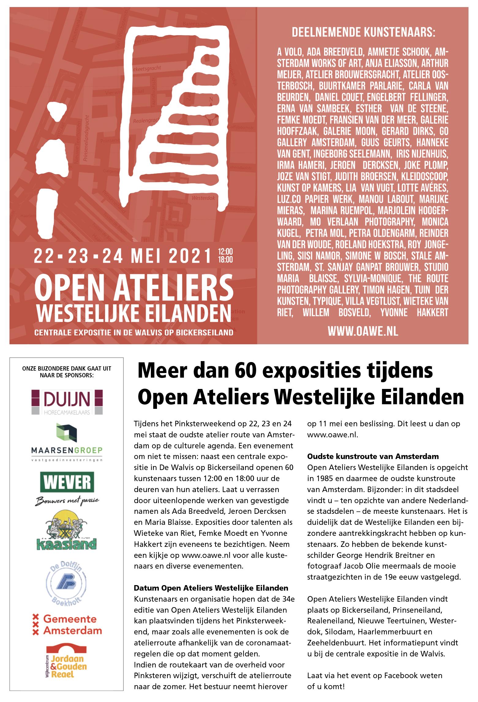 Wijkkrant Jordaan & Gouden Reael OAWE april 2021